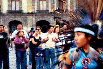 Gente de México en el zócalo