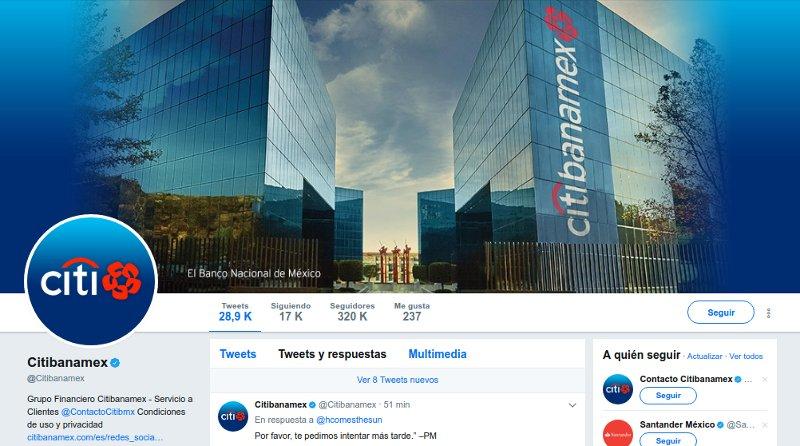 Usuarios reportan en redes sociales fallas en el servicio de Citi Bancanet de Citibanamex