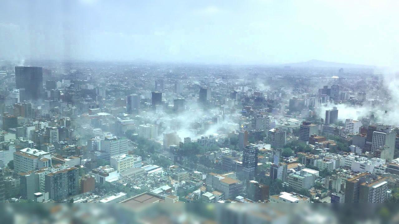 sismo cdmx vista aerea